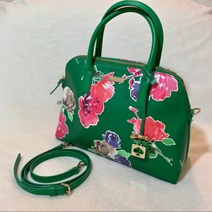 Kate Spade | Green Floral Handbag w/Shoulder Strap